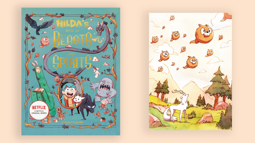 Get a Free A5 Print with Hilda's Book of Beasts and Spirits from these shops!